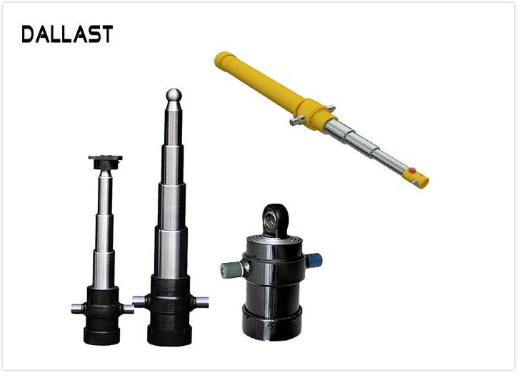 Multistage Side Dumper Single Acting  Telescopic Hydraulic Oil Cylinder